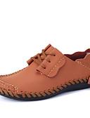 رخيصةأون فساتين للنساء-للرجال أحذية Leather نابا ربيع صيف خريف أحذية رياضية مفصل منفصل إلى أسود بني بني غامق سكني فاتح