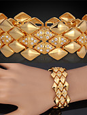 cheap Women's Fur Coats-Women's Crystal Layered Chain Bracelet / Bangles / Vintage Bracelet - 18K Gold Plated, Crystal, Rhinestone Luxury, Multi Layer Bracelet Golden For Wedding / Party / Special Occasion / Platinum Plated