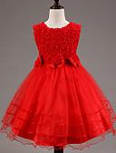 tanie Sukienki dla dziewczynek-Dzieci Dla dziewczynek Koronka Kwiaty Bez rękawów Sukienka