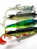 זול גברים-ג'קטים ומעילים-4pcs יח ' פתיון רך פתיונות דיג Jerkbaits Soft Shad פיתיון רך פלסטיק רך דיג בים Spinning דייג במים מתוקים דיג בס