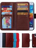 halpa Puhelimen kuoret-Etui Käyttötarkoitus Samsung Galaxy S6 edge / S6 / S5 Lomapkko / Korttikotelo / Flip Suojakuori Yhtenäinen PU-nahka