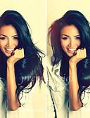 povoljno Večernje haljine-Ljudska kosa Full Lace Perika Ravan kroj Perika 130% Prirodna linija za kosu / Afro-američka perika / 100% rađeno rukom Žene Kratko / Medium / Dug Perike s ljudskom kosom