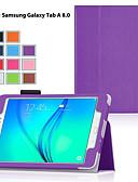 halpa Samsung Case-Etui Käyttötarkoitus Samsung Galaxy / Tab 8.0 / Tab 9.7 Tuella / Flip Suojakuori Yhtenäinen PU-nahka
