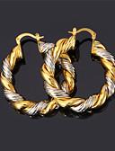 זול מכנסיים ושורטים לגברים-בגדי ריקוד נשים טבעות חישוקים / עגיל - ציפוי זהב וינטאג', מסיבה, עבודה זהב /  כסף / צבע מסך עבור יומי