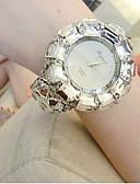 Недорогие Часы-браслеты-Жен. Модные часы Diamond Watch Кварцевый Черный / Белый 30 m Аналоговый Белый Черный