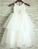hesapli Çiçekçi Kız Elbiseleri-Prenses sapanlar Yere Kadar Pamuklu / Tül Çiçekli ile Çiçekçi Kız Elbisesi tarafından LAN TING Express