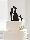cheap Wedding Dresses-Cake Topper Classic Couple Acrylic Wedding Anniversary Bridal Shower with 1 OPP