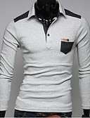 cheap Men's Hoodies & Sweatshirts-Men's Sports Cotton Polo - Solid Colored / Long Sleeve