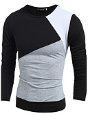 cheap Men's Tees & Tank Tops-Men's Sports Cotton T-shirt - Solid Colored Color Block
