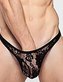 preiswerte Exotische Herrenunterwäsche-Herrn Spitze Sexy Solide - Jungen Shorts & Briefs Niedrige Taillenlinie