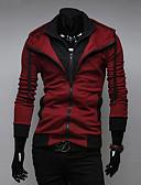 voordelige Herenhoodies & Sweatshirts-Heren Sport Actief Lange mouw Slank Hoodie Jacket Effen Capuchon