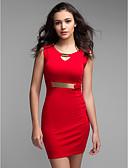ieftine Rochii de Damă-Pentru femei Mărime Plus Size Bumbac Pantaloni - Mată Roșu, Plisată Galben / În V / Muncă