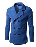 cheap Men's Exotic Underwear-Men's Shirt Collar Coats & Jackets , Cotton Blend Long Sleeve Casual Hollow Out Winter / Fall XZ1318