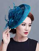 cheap Wedding Veils-Wedding Party Sinamay Feather Fascinators Hats Church hat
