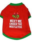economico Giacche e cappotti da Uomo-Gatto / Cane T-shirt Abbigliamento per cani Monocolore Rosso Cotone Costume Per animali domestici Per uomo / Per donna Casual / Natale