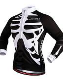 abordables Leggings para Mujer-WOSAWE Unisex Maillot de Ciclismo Bicicleta Camiseta / Maillot / Top Resistente al Viento, Bandas Reflectantes Cráneos Ropa para Ciclismo