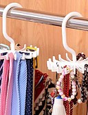cheap Men's Ties & Bow Ties-Adjustable 20 Hook Rotating Belt Rack Scarf Organizer Men Tie Hanger Holds