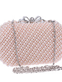 cheap Cocktail Dresses-Women's Bags Polyester Evening Bag Geometric White / Beige / Pink