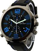 cheap Military Watches-V6 Men's Military Watch Wrist Watch Quartz Japanese Quartz Silicone Black Large Dial Analog Charm - Orange Yellow Blue Two Years Battery Life / Mitsubishi LR626