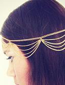 hesapli Moda Başlıklar-Kadın's Vintage Sevimli Parti İş alaşım Sa Zinciri Solid