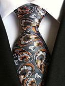 cheap Men's Ties & Bow Ties-Men's Party / Work / Basic Polyester Necktie - Graphic Print / Cute / Multi-color
