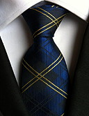 cheap Men's Ties & Bow Ties-Women's Party Work Basic Polyester Necktie - Plaid