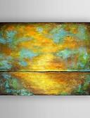 זול הינומות חתונה-ציור שמן צבוע-Hang מצויר ביד - מופשט מודרני כלול מסגרת פנימית / בד מתוח
