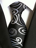 cheap Men's Ties & Bow Ties-Men's Party / Work / Basic Necktie Print