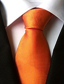 cheap Men's Ties & Bow Ties-Men's Party Work Basic Polyester Necktie - Solid Colored