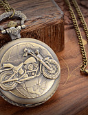 abordables Relojes de Bolsillo-Hombre Reloj de Bolsillo Japonés Cuarzo 30 m Reloj Casual Banda Analógico Encanto Bronce Un año Vida de la Batería