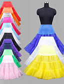 cheap Wedding Slips-Wedding Special Occasion Party / Evening Daily Slips Polyester Organza Tulle Lycra Knee-Length Ball Gown Slip Classic & Timeless with Dyed
