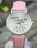 זול קווארץ-בגדי ריקוד נשים שעון יד שעונים יום יומיים עור להקה יום יומי / אופנתי שחור / לבן / כחול / שנה אחת / Tianqiu 377