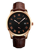 cheap Sport Watches-Men's Quartz Wrist Watch Calendar / date / day / Water Resistant / Water Proof Leather Band Luxury Black / Brown