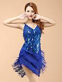 Χαμηλού Κόστους Φορέματα NYE-Λάτιν Χοροί Φορέματα Γυναικεία Επίδοση Οργάντζα Πούλιες / Φούντα Φόρεμα / Λατινικοί Χοροί