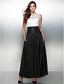 זול שמלות ערב-גזרת A אשליה באורך הקרסול אורגנזה / טפטה בלוק צבע ערב רישמי שמלה עם כפתורים על ידי TS Couture®