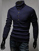 cheap Men's Tops-Men's Pullover - Solid Colored, Modern Style