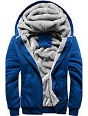 cheap Men's Hoodies & Sweatshirts-Men's Modern Jacket-Solid Color Hooded