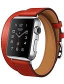 povoljno Kvarc-Pogledajte Band za Apple Watch Series 4/3/2/1 Apple Klasična kopča Prava koža Traka za ruku