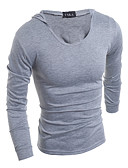 cheap Men's Tees & Tank Tops-Men's Plus Size Cotton T-shirt - Solid Colored Fashion Hooded