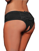 cheap Panties-Women's Plus Size Ultra Sexy Panties - Hole, Jacquard Mid Waist