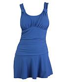 זול שמלות נשים-בגדי ריקוד נשים נושם, דחיסה, חלק ידידותי לסביבה פוליאסטר ללא שרוולים בגדי ים ביגוד חוף בגדי ים שחייה / גלישה / גמישות גבוהה