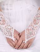 cheap Wedding Dresses-Elastic Satin / Silk Elbow Length Glove Bridal Gloves With Bowknot