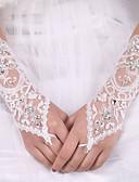 billige Bryllupskjoler-Elastisk sateng / Silke Albuelengde Hanske Brudehansker Med Sløyfe