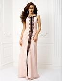 זול שמלות נשף-מעטפת \ עמוד צווארון מרובע עד הריצפה שיפון נשף רקודים / ערב רישמי שמלה עם תחרה / בד נשפך בצד על ידי TS Couture®