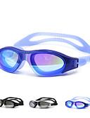 baratos Chapéus de Moda-Óculos de Natação Prova-de-Água silica Gel PC Branco Preto Azul Verde Preto Azul Dourado Prateado