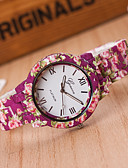 preiswerte Armband-Uhren-Damen Armbanduhr Quartz Armbanduhren für den Alltag Plastic Band Analog Blume Modisch Rose - Weiß Gelb Ein Jahr Batterielebensdauer / Tianqiu 377