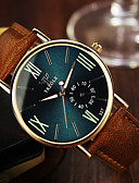 cheap Men's Watches-Men's Wrist Watch Quartz 30 m Leather Band Analog Brown - Black Royal Blue / Stainless Steel