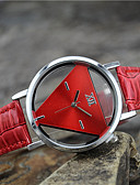 cheap Fashion Watches-Women's Quartz Wrist Watch Casual Watch Leather Band Charm Fashion Black White Blue Red Pink