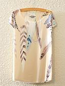 baratos Camisetas Femininas-Mulheres Camiseta Fofo Activo Flor, Floral Algodão