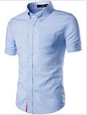 abordables Camisas de Hombre-Hombre Algodón Camisa Estampado / Manga Corta